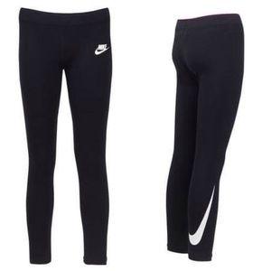 """Nike Girls Logo Black Leggings 28"""""""